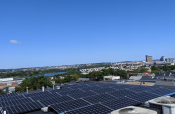 An ACE Solar installation with a view in Somerville, MA.