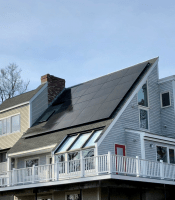 LG Solar panels installed by ACE Solar in Reading, MA.