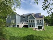 LG Solar panels installed by ACE Solar in North Andover, MA.