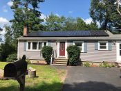LG Solar panels installed by ACE Solar in Wilmington, MA.