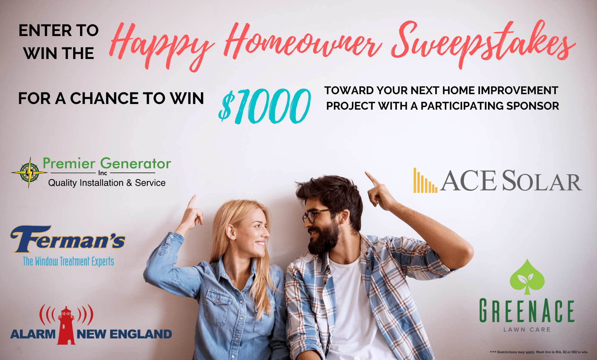 Win $1000 in the May/June 2020 - Happy Homeowner Sweepstakes