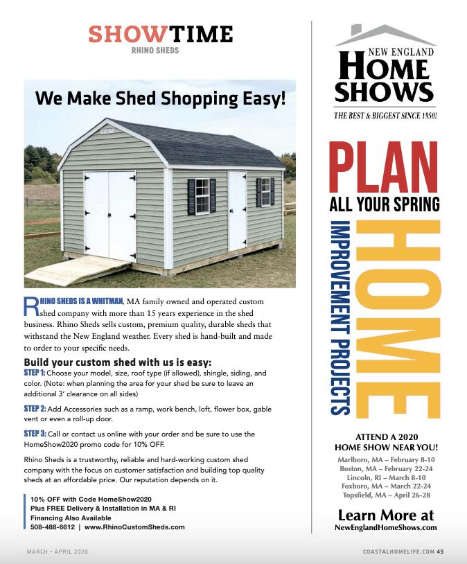 Advertorial Story - Coastal Home Life Magazine - Rhino Sheds